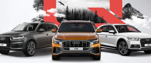 Особые условия при покупке кроссоверов Audi Q5, Audi Q7, Audi Q8